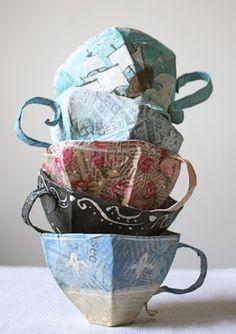 DIY: papier mache teacup tutorial…