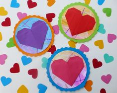 diy, kort med hjerte, morsdag, valentinsdag Diy Kort, Ark, Origami, Origami Paper, Origami Art
