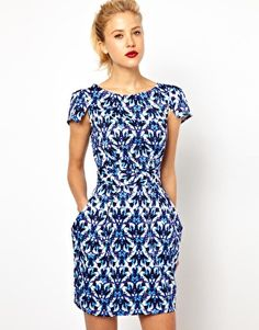Closet Tie-Back Dress with Pockets in Jewel Print from ASOS | What to Wear to a Wedding Cocktail Dresses #weddingattire #weddingdresscode #weddingseason