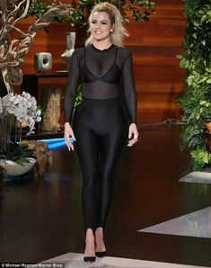Beaming beauty: Khloe Kardashian talked about her boyfriend Tristan Thompson and their Valentine's Day plans on the Monday episode of The Ellen Show