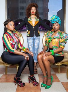 """♥""""Every Day Afro"""" collection By Colombian designer Lia Samantha African Dresses For Women, African Wear, African Attire, African Women, African Style, African Dashiki, African Inspired Fashion, African Print Fashion, Africa Fashion"""