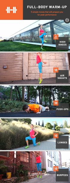 Do these 5 simple moves to get your heart pumping and prepare your body to own your workout!