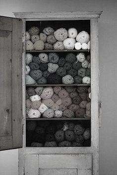 A closet full of yarns