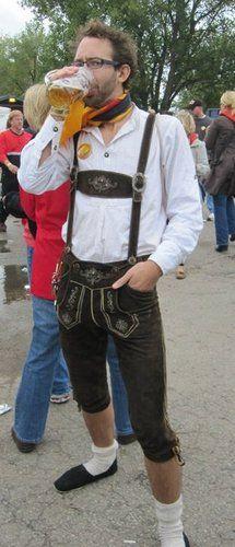 Simple: Lederhosen and Bier German Costume, German Men, Lederhosen, Traditional Clothes, Wizards, Folklore, Gentleman, Steampunk, Germany