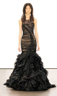 black wedding dresses vera wang fall 2012