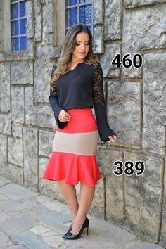 Conjunto Blusa + saia NF460389 - NerisBella Moda Evangélica