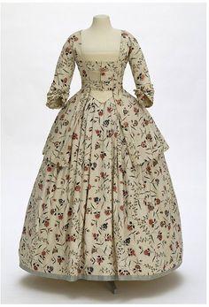 Caraco Jacket ensemble c. 1770-1780, Victoria & Albert Museum