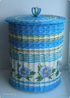 Поделка изделие Плетение Январь Трубочки бумажные фото 1: