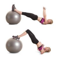 Move 6: Reverse Lunge with Rotation and Biceps Curl    Deadlift to High Pull    Stability-Ball Triceps Extension    Plank Hold and Single-Arm Row    Squat with Leg Abduction and Lateral Raise    Hamstring Curl with Chest Press    V-Sit Incline Press    Side Plank with Rear Fly