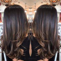 63 Ideas hair color ombre summer brunettes - All For Hair Color Balayage Brown Hair Balayage, Hair Color Balayage, Asian Hair Lowlights, Balayage Hair Brunette Straight, Balayage Hair Brunette Caramel, Soft Balayage, Honey Balayage, Hair Color Highlights, Ombre Hair Color