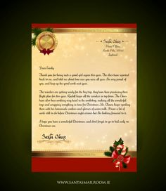 a personalise letter from santa international shipping available