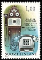 Stamp: Ancient and Modern Telephone (Finland) Years Telephone) Mi:FI 828 Good Old Times, Postage Stamps, Landline Phone, The 100, Modern, Denmark, 1970s, Nostalgia, Memories