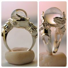 The Oracle - sterling ring and clear quartz sphere by kerinewton on DeviantArt