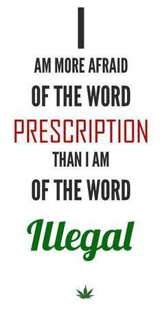 I'm More Afraid Of The Word Prescription - Marijuana Memes