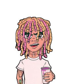 Lil Pump Cartoon Lean by bensdesiigns