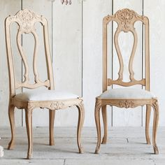 So lovely Eloquence One of a Kind Antique Dining Chair French Natural Oak Set of 6 avail at Layla Grayce