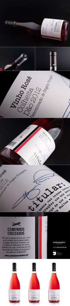 BODEGAS CAMINHOS CRUZADOS - Rosé Colhetia Dao 2012 - TANINOTANINO VINOS INTELIGENTES - VINOS MAXIMUM Wine Brands, Wine Bottle Labels, Wine And Spirits, Feel Better, Portugal, Packaging, Branding, Graphic Design, Food