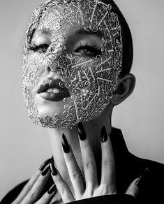 Mask by Yana Markova for NUMERO magazine #yanamarkova, #jewelry , #headpiece , #beautyproducts #янамаркова Fertile Woman, Sydney, Fit Women, Sexy Women, Markova, Summer Swimwear, Pure Beauty, Bikini Set, Bikini Babes