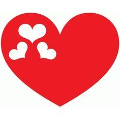 Silhouette Design Store: hearts in heart