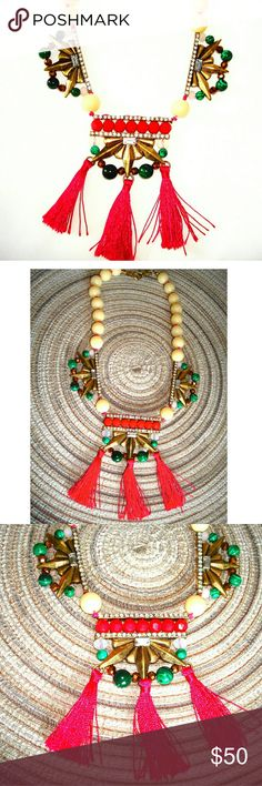 NWOT! INDIAN POW WOW TREND STATEMENT NECKLACE SUPER UNIQUE INDIAN MADE NECKLACE  BUY NOW OR BUNDLE AND SAVE  WE LOVE OFFERS  SUGGESTED SELLER! @richera137 Jewelry Necklaces