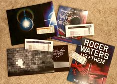 Roger Waters Live concert program books Pink Floyd Merchandise, Roger Waters, Cards Against Humanity, Live, Concert, Books, Libros, Book, Concerts