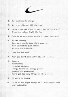 Nike #Brand #Principles #Manifesto