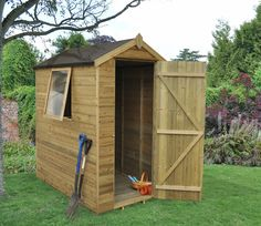 4 x 6 tongue groove pressure treated apex shed