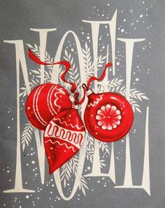 Mid-Century Christmas card