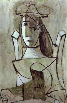 Pablo Picasso Young Girl Struck by Sadness | (Oil, artwork, reproduction, copy, painting).