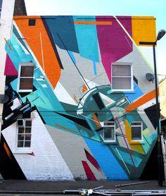 Augustine Kofie and Remi Rough. Street art at its finest. Mural Painting, Mural Art, Wall Art, Wall Mural, Tachisme, Murals Street Art, Street Art Graffiti, Pop Art, Retro Futuristic