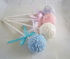 Cake Pops: Baby Shower Cake Pops Made to Order with High Quality Ingredients. $22.00, via Etsy.