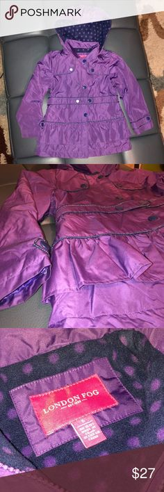 London Fog Girl's Purple Hooded Lined Coat The cutest little coat / Jacket!  Still in a good condition!  Size 6 Girls London Fog Jackets & Coats
