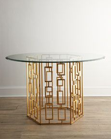 """Cheryl"" Side Table from Horchow - geometric design"