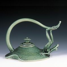 Frog Tea Pot by Johnny Hughes of Pollywog Pottery. American Made. 2013 Buyers Market of American Craft. americanmadeshow.com
