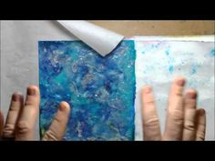 ABC Art Journal Series-B Bring your old supplies to the table and use them in new ways. - YouTube