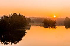 The sun rising over the James River in Richmond, Virginia. Richmond Virginia, Get Outdoors, The World's Greatest, Fine Art America, Sunrise, River, Wall Art, Artwork, Work Of Art