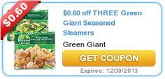 $0.60 off THREE Green Giant Seasoned Steamers