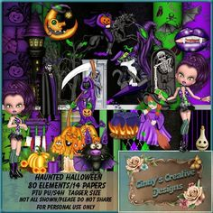 Puddicat Creations: CCD_Haunted Halloween - Tagger Kit
