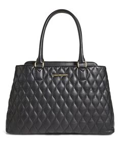 Take a look at this Black Quilted Emma Leather Tote today!