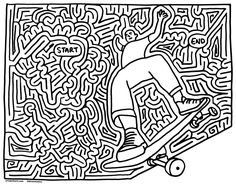 Maze Drawing, Printable Mazes, Fun Brain, Too Cool For School, Pop Culture, Diy And Crafts, Art Drawings, How To Draw Hands, Coloring