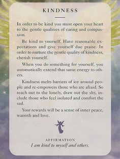 Angel Card: 02 July 2013: Kindness