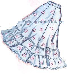 Plus Size (or any size) Vintage 1950s Petticoat Pattern - PDF - Pattern No 216 Melanie Petticoat Skirt on Etsy, $7.95 CAD