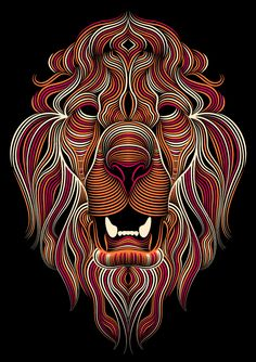 Lions by Patrick Seymour, via Behance