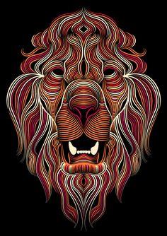 'Creative Cloud Illustrator Lion' by Patrick Seymour via Behance