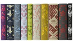 Coralie Bickford-Smith , senior cover designer at Penguin Books, combined my love for classic books, fabric and art with her lovely desig. Penguin Classics, Penguin Clothbound Classics, Edith Holden, Club Monaco, Book Spine, Victorian Design, Victorian Books, Medieval Books, Victorian House