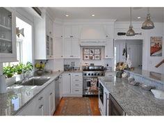White and Grey Coastal Kitchen