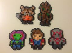 Guardians of the Galaxy Perler Bead Creations by HoltyTatsCreations