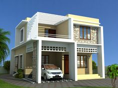 Contemporary Model Plans Cadd Artech Independent House, Modern Mansion,  Modern House Design, Cool