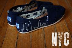 City Skyline Custom TOMS Shoes by shandke on Etsy, $94.50
