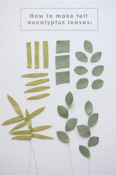 How to make felt eucalyptus leaves!